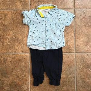 Bon Bebe Pants & SS Shirt Outfit (bundle & save)